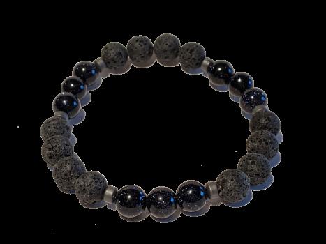1 - Lava & Purple Sandstone Aromatherapy Diffuser Bracelet