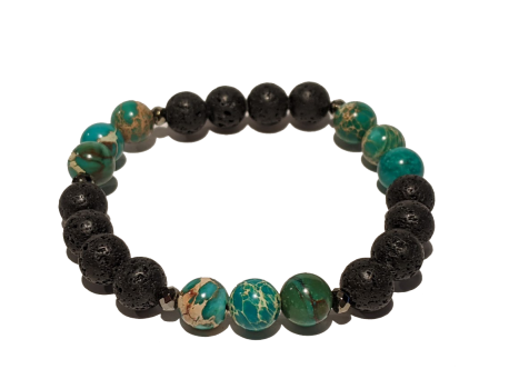 7 - Lava & African Turquoise Aromatherapy Diffuser Bracelet
