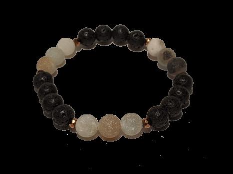 11 - Lava & Matte Amazonite Aromatherapy Diffuser Bracelet