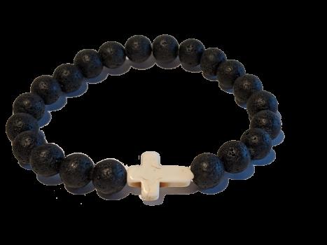 9 - Lava|Cross Aromatherapy Diffuser Bracelet