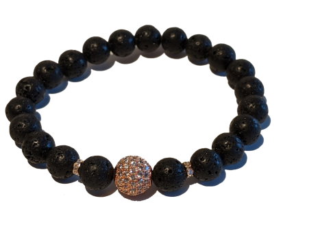 2 - Lava & Copper CZ Aromatherapy Diffuser Bracelet