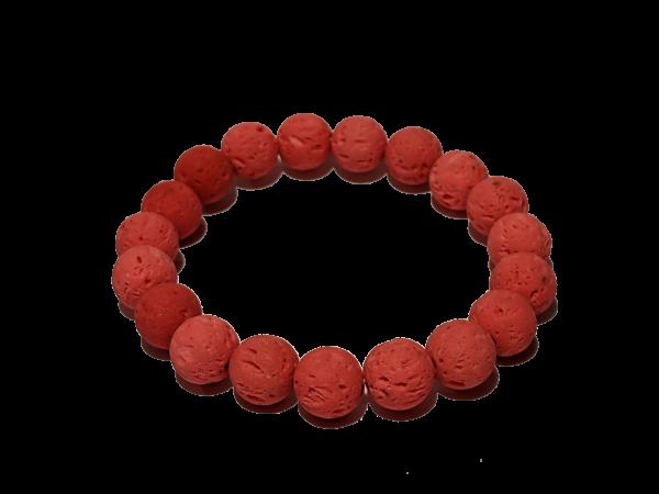 1 - Pink 10mm Lava Aromatherapy Diffuser Bracelet