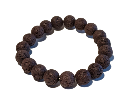 9 - Dark Brown 10mm Lava Aromatherapy Diffuser Bracelet